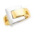 14K Two-Tone Gold Polished Buckle Ring