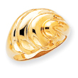 14K Gold Polished Swirl Dome Ring