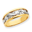 14K Gold & Rhodium Dolphin Ring