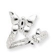 14K White Gold Duo Butterflies Ring
