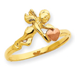 14K Two-tone Gold Angel & Heart Ring