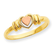 14K Two-tone Gold Heart Ring