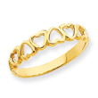 14K Gold High Polished Heart Band Ring