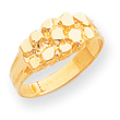 14K Gold Nugget Ring