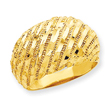 14K Gold Diamond-Cut Dome Ring