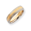14k Two-Tone Gold 6mm Domed Wedding Band