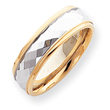 14k Two-Tone Gold 7mm  Design-Etched Wedding Band