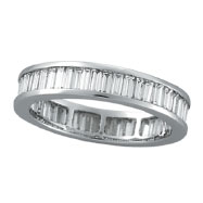 18K White Gold 2.10ct Baguette Diamond Eternity Band Ring
