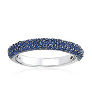 14K White Gold Sapphire Medium Stackable Ring