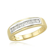 14K Ladies' .25ct Round Channel Set Diamond Wedding Band