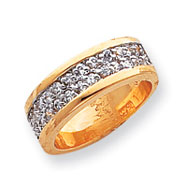 Sterling Silver & Vermeil CZ Ring