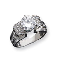 Sterling Silver 8mm Round CZ Ring