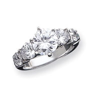 Sterling Silver 5-Stone CZ Ring