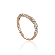 14K Rose Gold Diamonds Ring