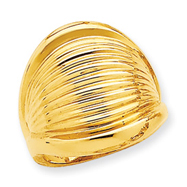 14K Gold High Polished Dome Ring