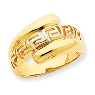 14K Gold High Polished Greek Dome Ring