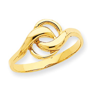 14K Gold Free Form Ring