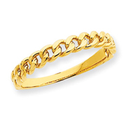 14K Gold Chain Link Band Ring