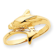 14K Gold Dolphin Ring