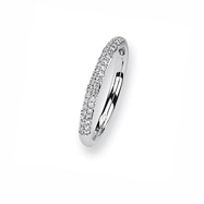 Karat Platinum .25ctw Diamond Micro Pave Ring